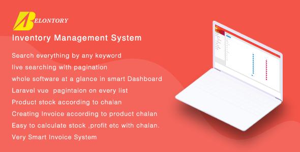 Belontory - Vue Laravel Inventory Management System