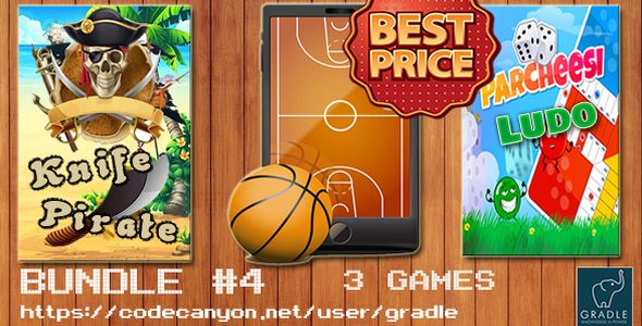 Bundle #4 - 3 Games (Admob + GDPR + Android Studio)