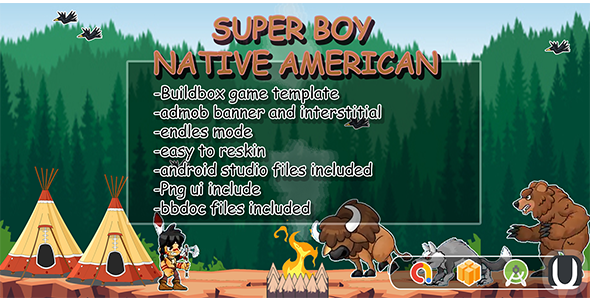 Super Boy - Native American (Android Studio+BBDOC+Assets)