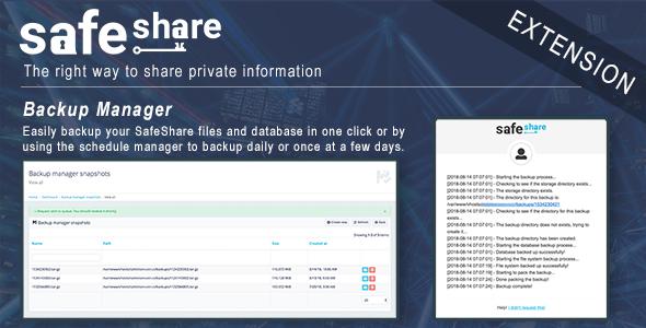Backup Manager for SafeShare
