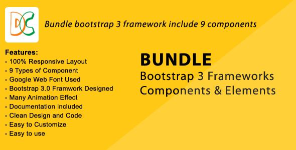 Bundle - Bootstrap 3 Frameworks Components