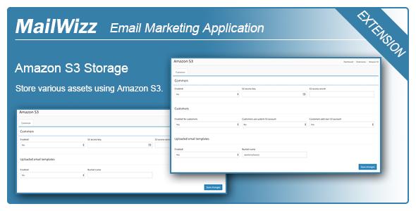 Amazon S3 integration for MailWizz EMA