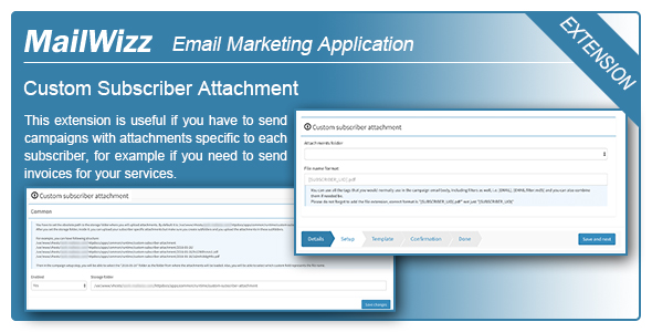 MailWizz EMA - Custom subscriber attachment