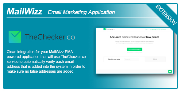 MailWizz EMA integration with TheChecker.co