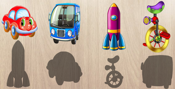 Android Puzzle for Toddlers : Vehicles