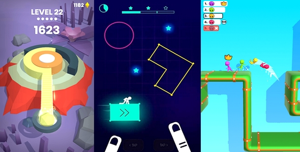 3 GAME HIGH QUALITY PROJECT UNITY 2D & 3D