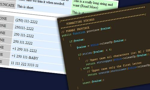 Basic PHP Data Formatting