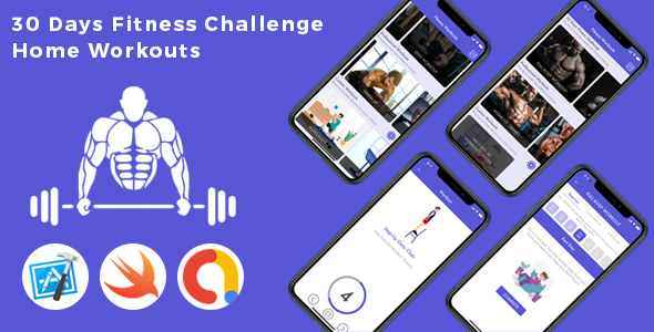 30 Day Fitness Workouts at Home for Men - Daily Workouts Tracker & Personal Fitness Trainer for Male