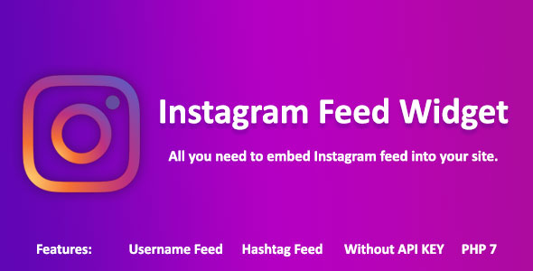 InstaWidget - PHP Instagram feed viewer plugin