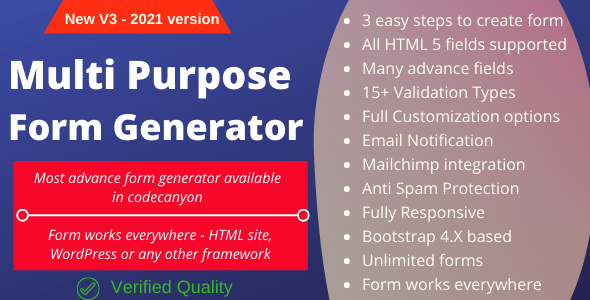 Multi-Purpose Form Generator & docusign (All types of forms) with SaaS