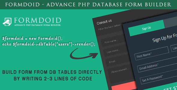 Formdoid - Advance PHP Database Form Builder