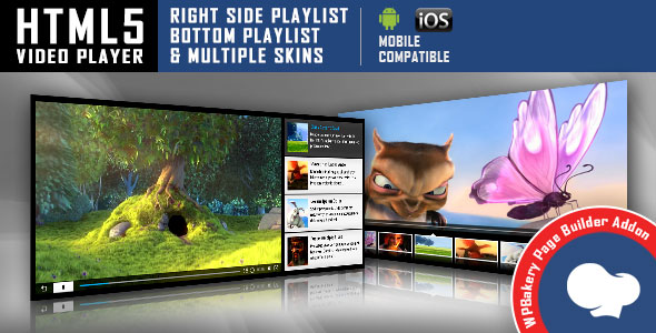 Visual Composer Addon - HTML5 Video Player for WPBakery Page Builder