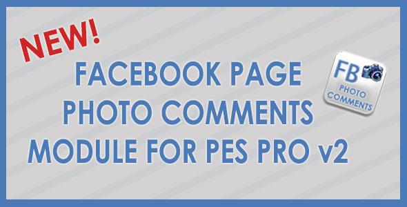 Facebook Photo Comments for PES Pro v2