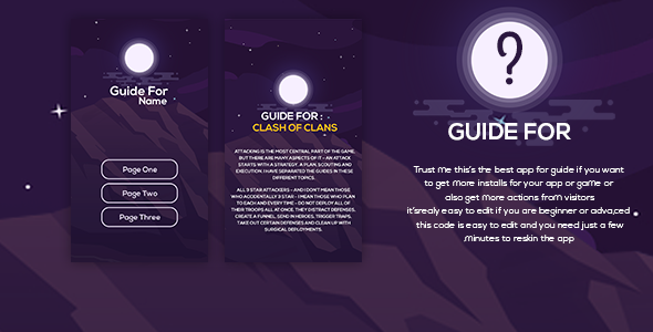 Guide For / How to / Tips For - New App Guide With UI PSD ( For Android)