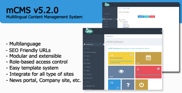 mCMS - Multilingual Content Management System