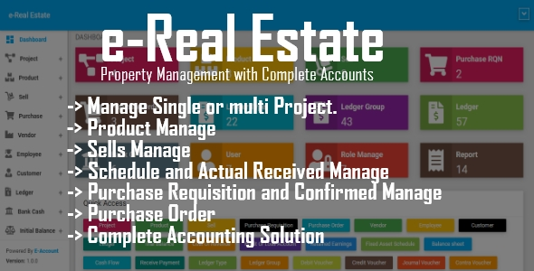 e-Real Estate - Property Management with Complete Accounts