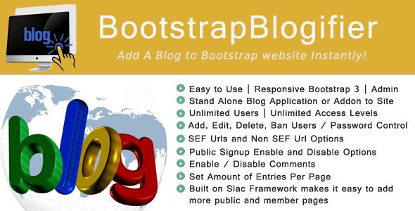 Bootstrap Blogifier