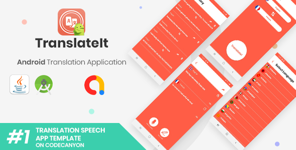 TranslateIt | Android Speech and Text Translations Application