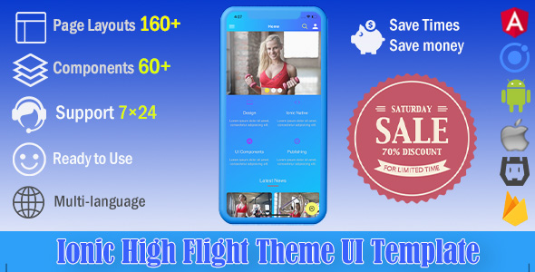 High Flight | Ionic 4 UI Theme / Template App | Starter App