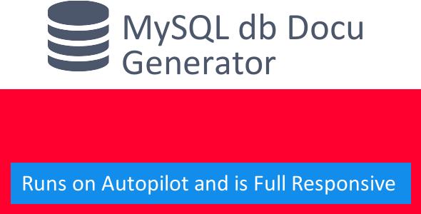 MySQL Documentation Generator
