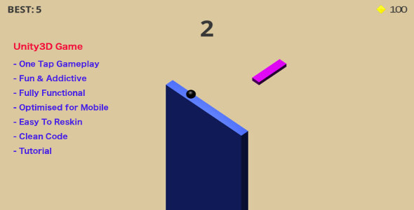 3D Challenge Game Made with Unity3d For iOs
