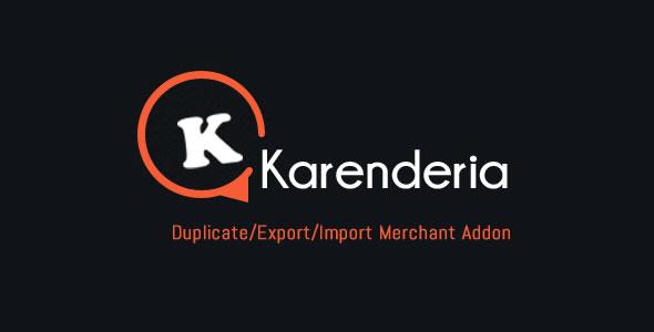KMRS Duplicate/Export/Import Merchant Addon