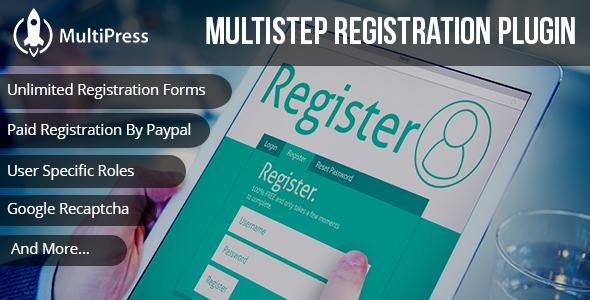 MultiPress Pro - WP Multi Step Registration Form Plugin