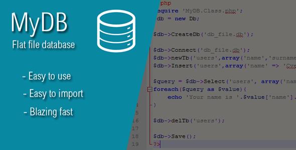 MyDB - Your Flat-File Database
