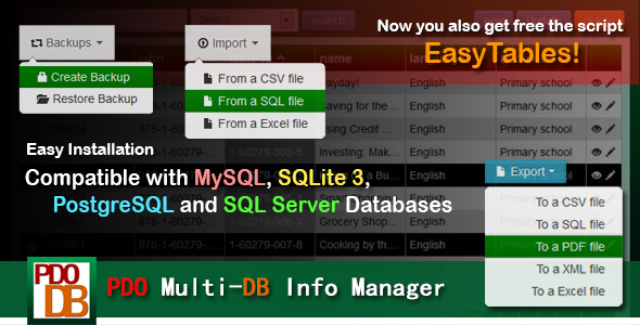 PDO Multi-DB Info Manager