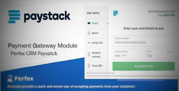 Paystack Payment Gateway for Perfex CRM