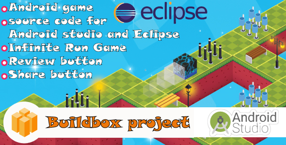 Cube: 3D Game-Android game-admob ads-Buildbox project