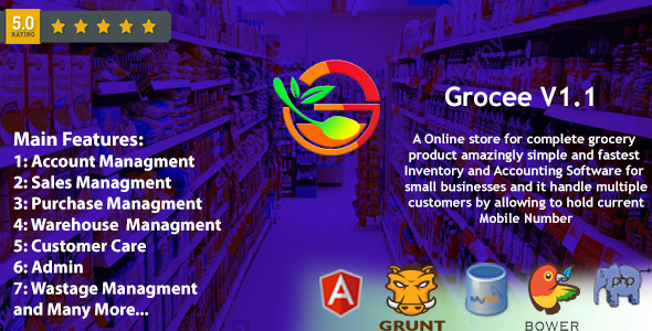 Grocee - Complete Grocery store Backend with Telecaller