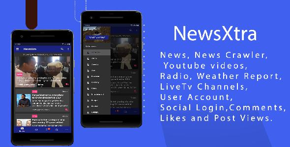 NewsExtra - Articles + Radio + Youtube + Weather + LiveTv