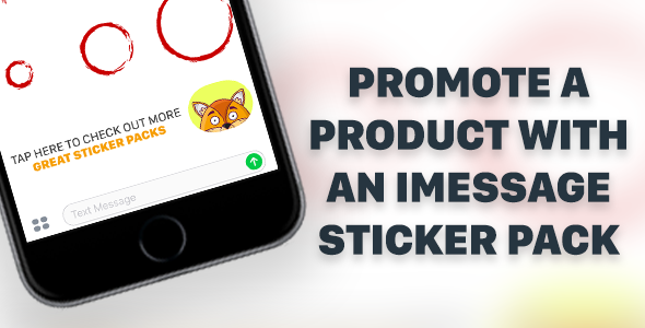 Enhanced iMessage Sticker Pack Template for iPhone and iPad With Affiliate Linking