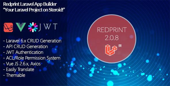 Redprint Laravel 6 App Builder CRUD Generator Plus
