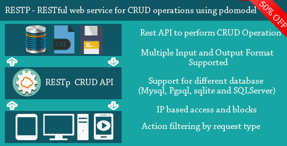 RESTp - RESTful web service for performing CRUD operations using PDOModel