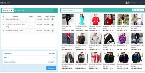 Sales management software ReactJS+Laravel