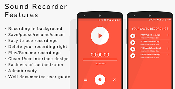 Sound Recorder - Android App + admob integration