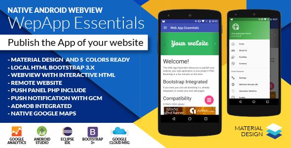 Android Web App + Push Web Panel