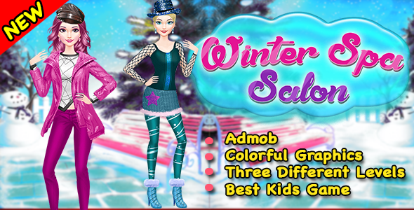 Winter Spa Salon Game For Kids + Ready For Publish