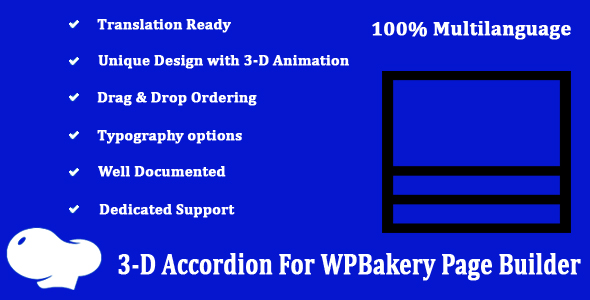 Three-D Accordion for WPBakery Page Builder
