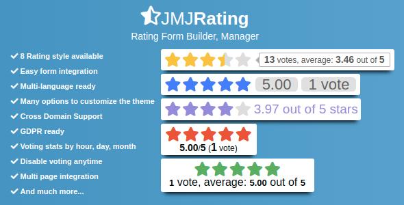 JMJRating: Rating Form Builder