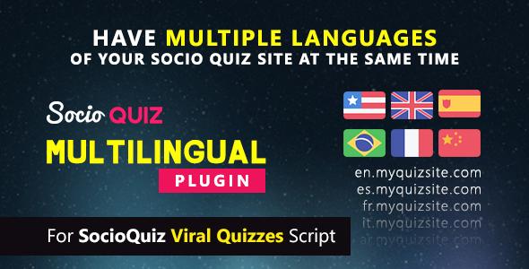 Multilingual plugin for SocioQuiz Viral Quiz script