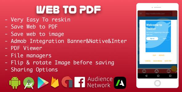 Web to PDF Converter With Admob
