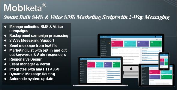 Mobiketa - Complete Mobile Marketing Script with Bulk SMS