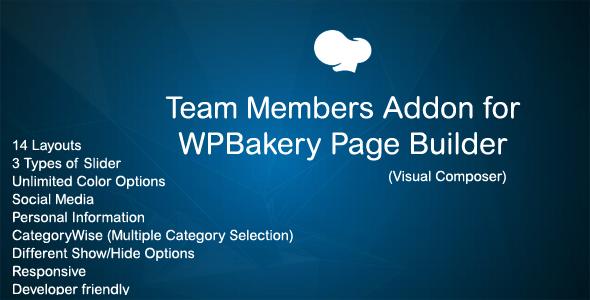 JAG Team Member Addon for WPBakery Page Builder (Visual Composer)