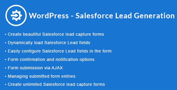 WordPress - Salesforce Lead Generation | WordPress - Salesforce Lead Capture