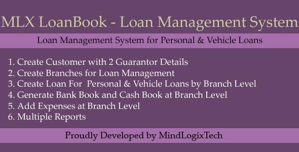 MLX LoanBook - Loan Managment System