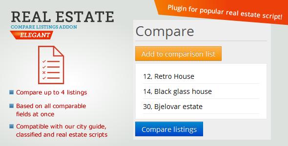 Real Estate Compare Listings