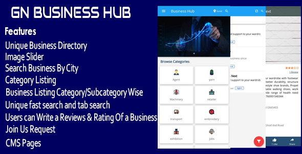 GN Business Hub - Ionic Mobile App